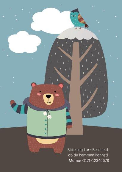 Einladung Kindergeburtstag Winterbär 2