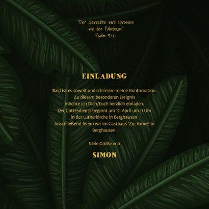 Einladung Konfirmation Dschungel-Look mit Fotos 3