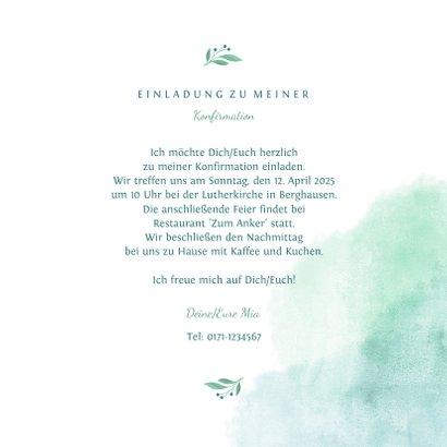 Einladung Konfirmation Taube botanisch 3