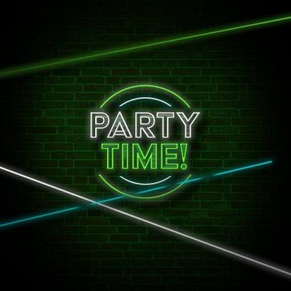 Einladung Laserparty Laserstrahlen grün 2