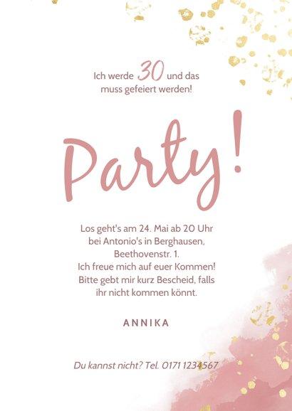 Einladung Party Foto Wasserfarbe & Tupfen 3