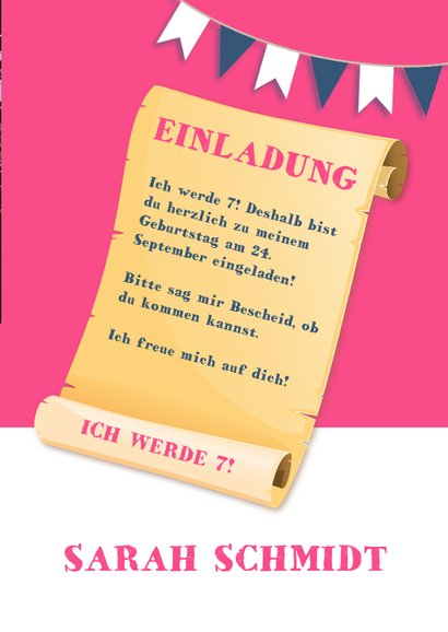 Einladung Schloss Burg Wupper blau-rosa 3