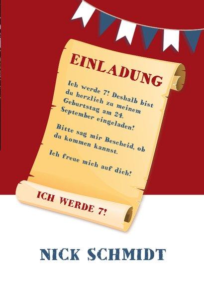 Einladung Schloss Burg Wupper blau-rot 3