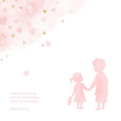 Einladung Taufe kleine Schwester großer Bruder rosa 2