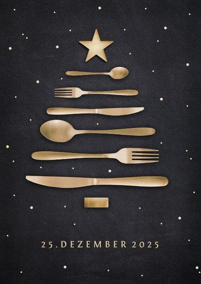 Einladung Weihnachtsessen Besteck-Weihnachtsbaum 2