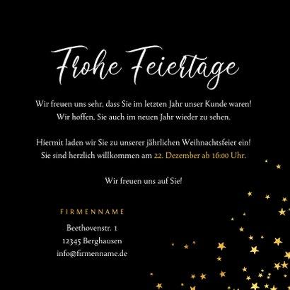 Einladung Weihnachtsfeier goldene Sterne geschäftlich 3
