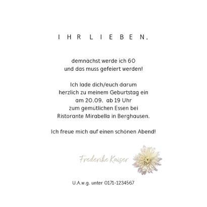 Einladung Weiße Dahlie 3