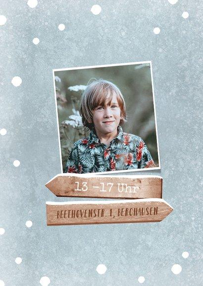 Einladung Winter-Kindergeburtstag Schlitten 2