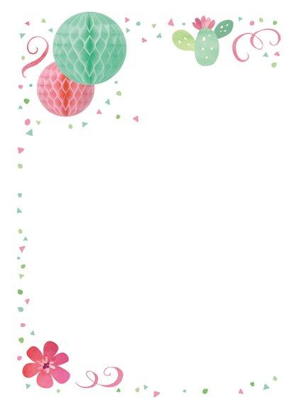 Einladung zum 14. Geburtstag in sommerlichen Farben  2