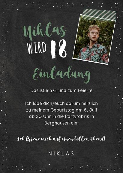 Einladung zum 18. Geburtstag Nah dran 3