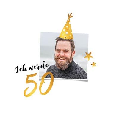 Einladung zum 50. Geburtstag Goldakzente 2