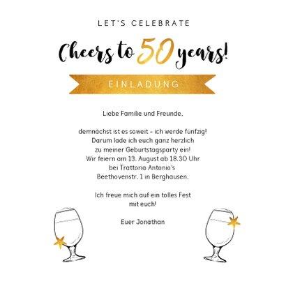 Einladung zum 50. Geburtstag Goldakzente 3