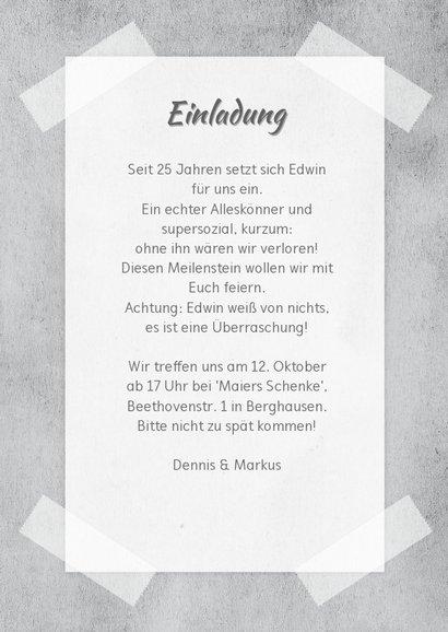 Einladung zum Dienstjubiläum Kollege Zeitschrift 3