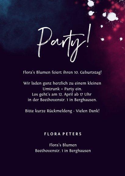 Einladung zum Firmenjubiläum 'Hooray' Neon pink 3