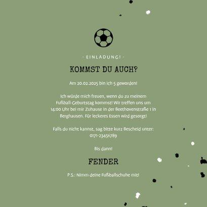 Einladung zum Fußball Kindergeburtstag mit Foto 3
