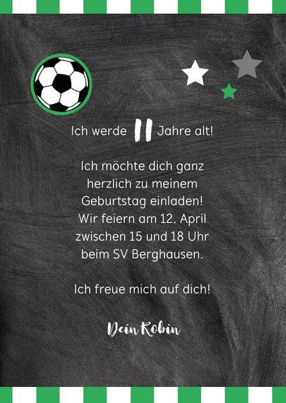 Einladung zum Fußballgeburtstag Kicker 3