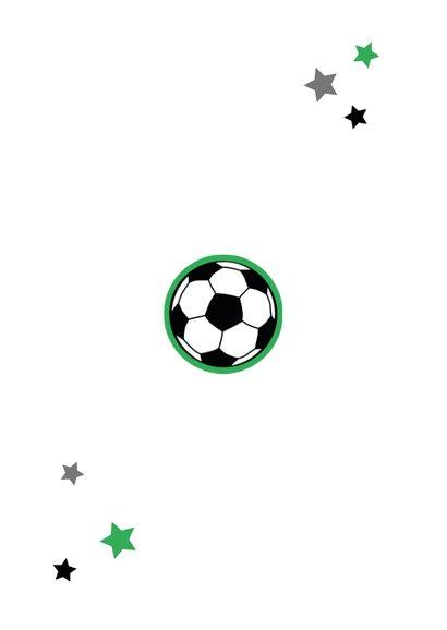 Einladung zum Fußballgeburtstag Kicker Rückseite
