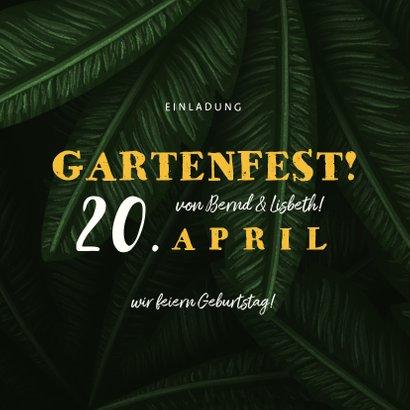 Einladung zum Gartenfest Doppelgeburtstag  2