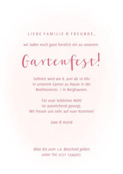 Einladung zum Gartenfest Gießkanne mit Blumen 3