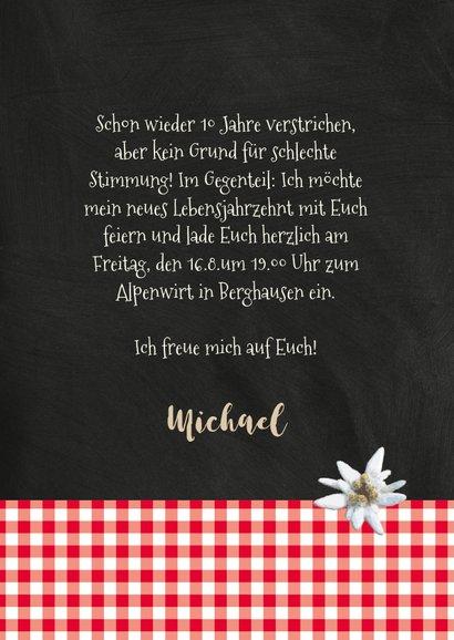 Einladung zum Geburtstag Alpenhütte 3