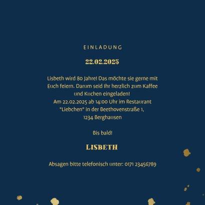 Einladung zum Geburtstag dunkelblau mit Fotos 3