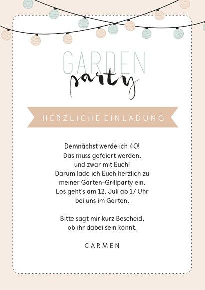 Einladung zum Geburtstag Gartenparty pastell 3