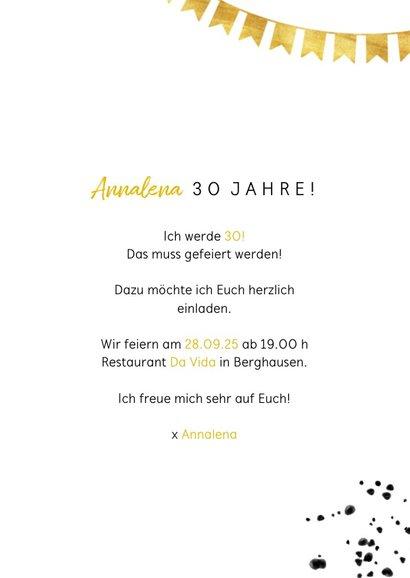 Einladung zum Geburtstag Goldzahl 3
