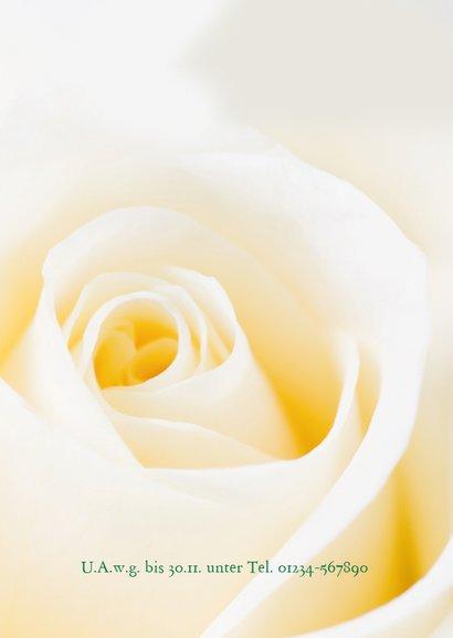 Einladung zum Geburtstag Klassische Rose crème 2
