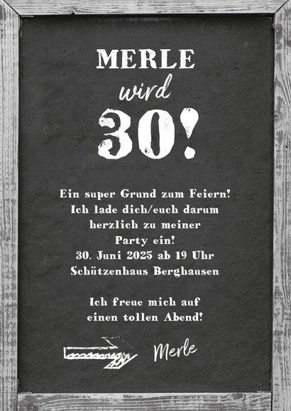 Einladung zum Geburtstag Kreidetafel 3