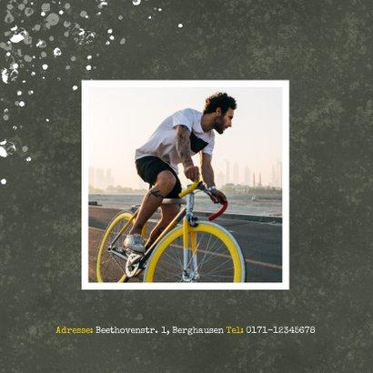 Einladung zum Geburtstag Let's Party mit Fahrrad 2
