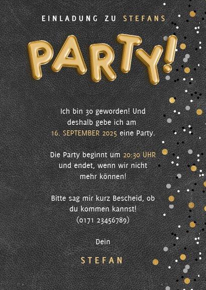 Einladung zum Geburtstag Party Ballon und Fotos 3