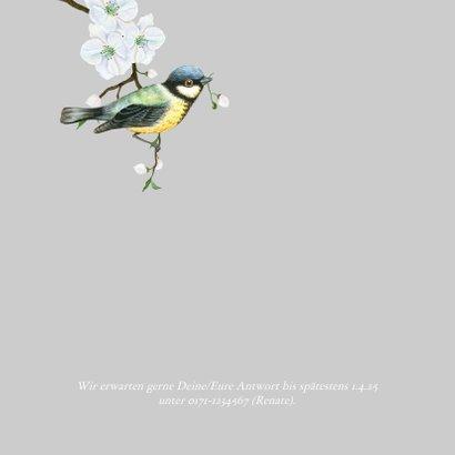 Einladung zum Geburtstag weißer Blumenkranz 2