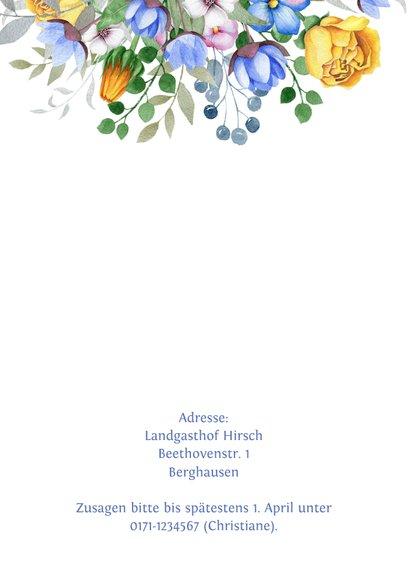 Einladung zum Hochzeitsjubiläum Blumenschmuck 2