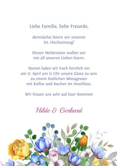 Einladung zum Hochzeitsjubiläum Blumenschmuck 3