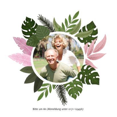Einladung zum Hochzeitsjubiläum botanisch mit Foto 2