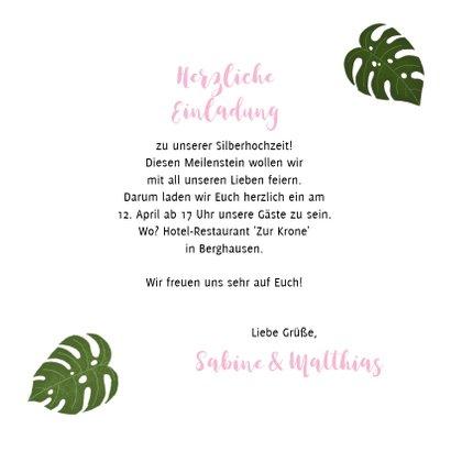 Einladung zum Hochzeitsjubiläum botanisch mit Foto 3