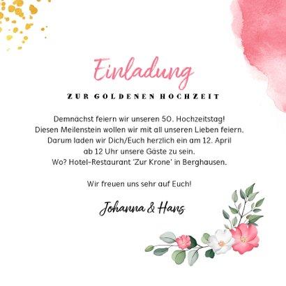 Einladung zum Hochzeitsjubiläum Foto und rosa Wasserfarbe 3