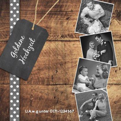 Einladung zum Hochzeitsjubiläum Fotocollage auf Holz 2