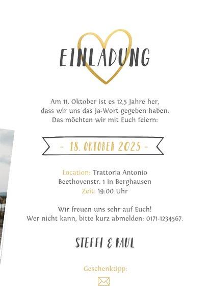 Einladung zum Hochzeitsjubiläum Fotocollage 3