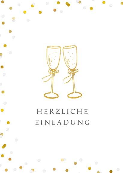 Einladung zum Hochzeitsjubiläum Goldene Gläser 2