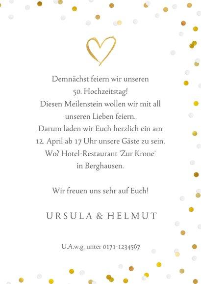 Einladung zum Hochzeitsjubiläum Goldene Gläser 3