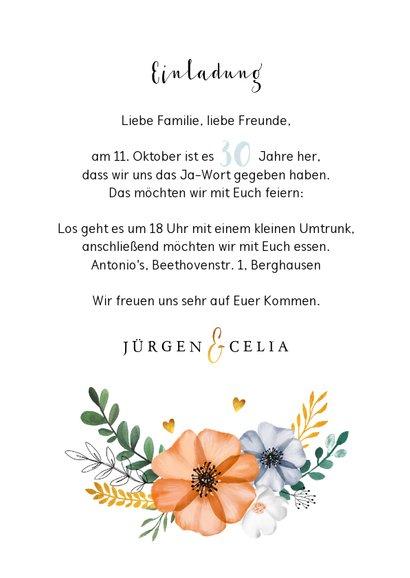 Einladung zum Hochzeitsjubiläum Mohnblumen 3