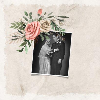 Einladung zum Hochzeitsjubiläum Rosenstrauß 2