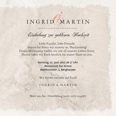 Einladung zum Hochzeitsjubiläum Rosenstrauß 3