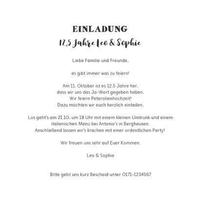 Einladung zum Hochzeitsjubiläum Foto Schilder & Lichter blau 3