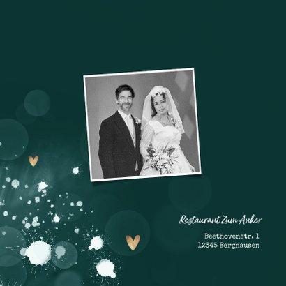 Einladung zum Hochzeitstag Fotos auf blaugrün 2