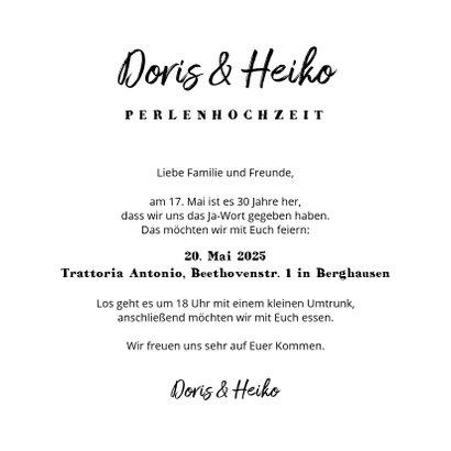 Einladung zum Hochzeitstag Fotos Kraftpapier 3