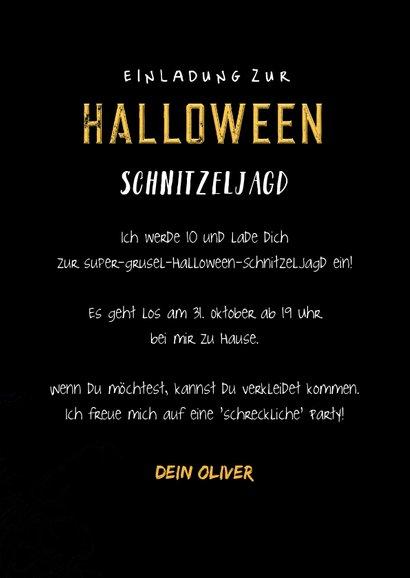 Einladung zum Kinder-Halloween-Fest Totenkopf mit Hut 3