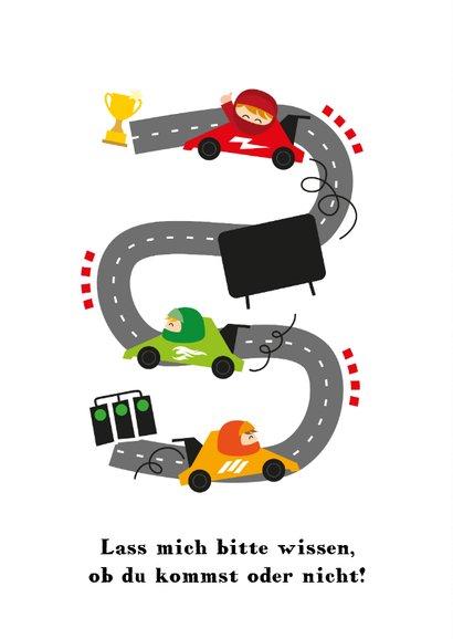 Einladung zum Kindergeburtstag Autorennen 2