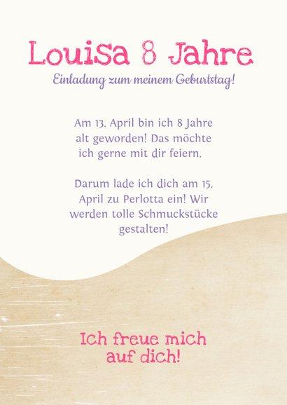 Einladung zum Kindergeburtstag bei Perlotta 3